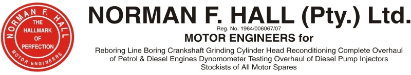 Norman F. Hall (Pty) Ltd Motor Engineering